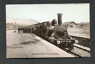 Fort Augustus Inverness - The Railway Station & Steam Train c1920