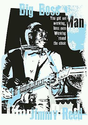Jimmy Reed blues poster prints hand signed by artist