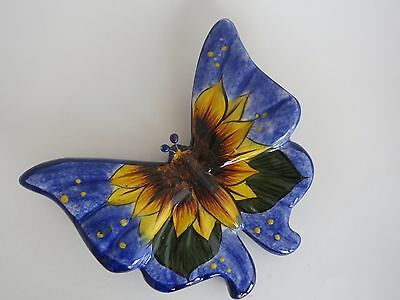 Mexican Talavera Pottery BUTTERFLY 7''