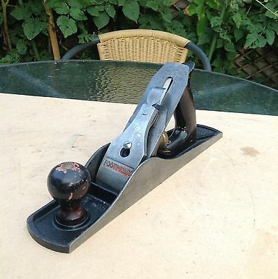 Vintage Footprint Plane no 5 with Wooden Handles