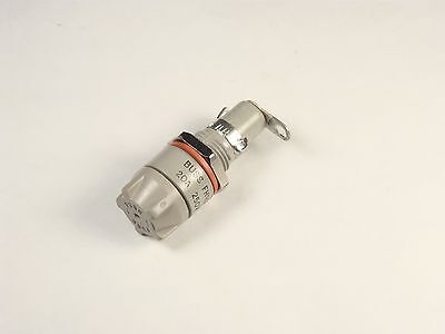FHN20G Bussmann Panel Mount Fuse Holder 20A 250V Bayonet Knob 1 Pole NOS