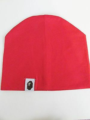 New!!!  Bape -Bathing Ape- Baby Beanie- Light Weight- Bright Red