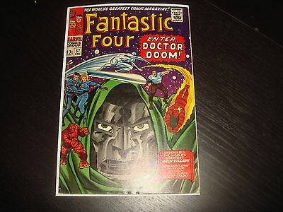 FANTASTIC FOUR #57  Silver Age Dr. Doom Surfer Marvel Comics 1966  FN-