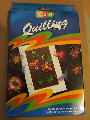 Free Uk  P&p Floral Quilling Kit By Ksg