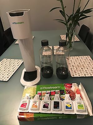 Soda Stream, with Bottles, Gas & Flavours