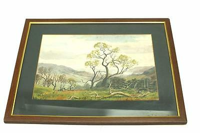 20thC Watercolour Painting English Country Side Landscape Picture Signed Clarke