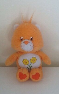 Vintage CARE BEAR - Orange Bear With Flowers From 2002