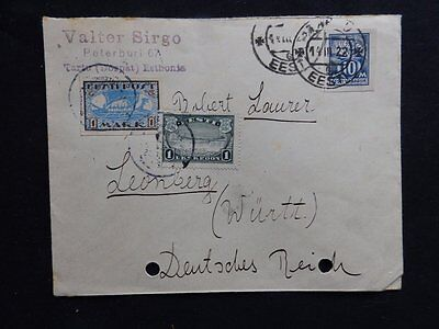 Estonia Cover Cancelled 14-11-22 To Germany