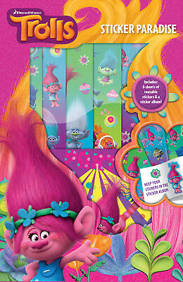 Dreamworks Trolls Sticker Paradise Childrens Activity Gift Stocking Filler