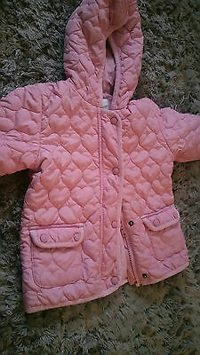 Next Girls Quilted Baby Pink Coat Age 4-5 Years