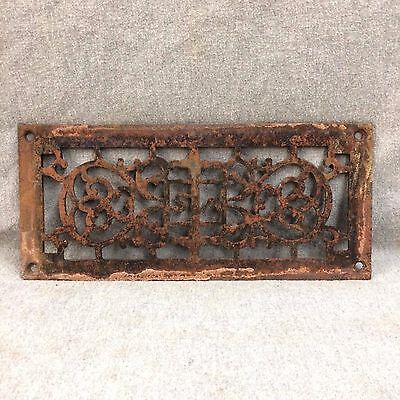 Antique Cast Iron Fireplace Grill Grate Vent Old Vtg Victorian Hardware 2264-16
