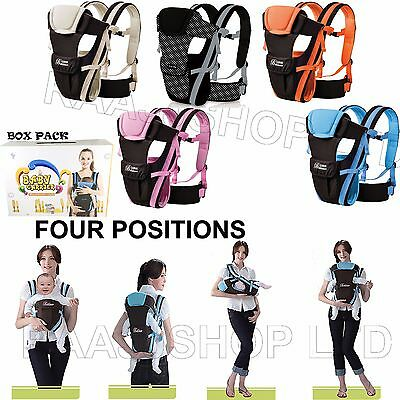 New Box Pack Strong Breathable Adjustable Infant Baby Carrier Backpack Uk Seller
