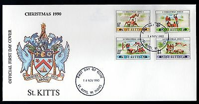 St Kitts 1990 FDC Christmas - Traditional Games