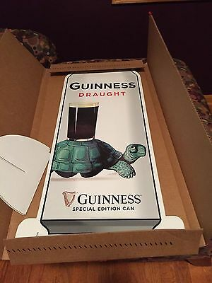NEW Set of 3 Guinness Special Edition Can Standups Double Sided Turtle L@@K