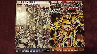 The TRANSFORMERS  2 ANNUALS 2012  PRIMUS IDW