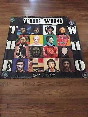 """The Who Face Dances 1981 Promotional Poster Not For Sale Some Damage 46"""" X 46"""""""