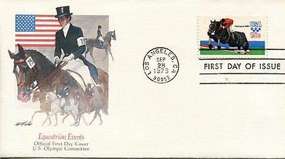 1979 Summer Olympics 15 Cent  Equestrian Events Fleetwood Cachet Unaddressed Fdc