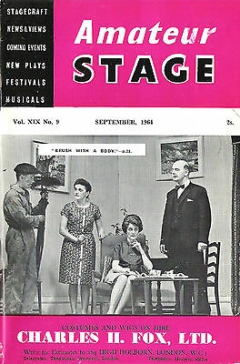 Amateur Stage magazine Sept 1964 collectable vintage retro plays acting theatre