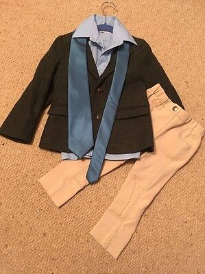 Child's Leadrein Complete Show Outfit Tweed Jacket And Jodhpurs Age 2-3-4