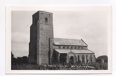 Real Photo Postcard - St Peters Church, Old Walsingham, Norfolk