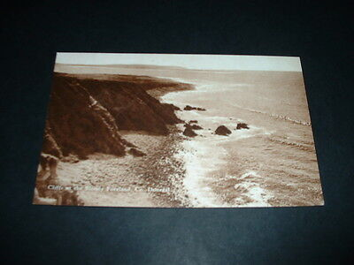 IRELAND  CLIFFS AT THE BLOODY FORELAND Co  DONEGAL  RP POSTCARD  1920s