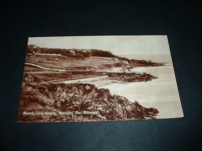IRELAND  BEACH AND GREEN MOVILLE Co  DONEGAL  RP POSTCARD  1920s