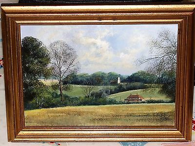 Clive Madgwick (British 1934-2005) Oil On Board Painting Suffolk Landscape