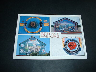 Northern Ireland Wall Mural Belfast, Postcard New