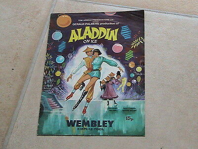 Aladdin on Ice at Wembly Empire Pool Souvenir Programme Jan 1975