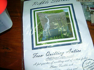 Ribble Stalker Quilting Antics kit to make front of cushion