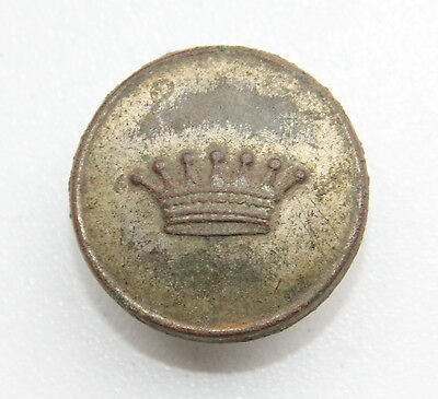Russia Russian Empire Original Liveried Button with Crown