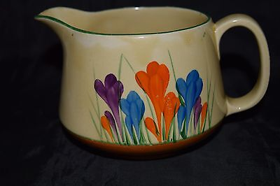 "Clarice Cliff large Crown shape jug ""Autumn Crocus"" 1931"