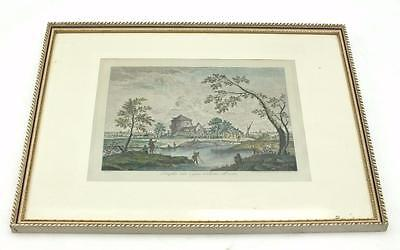 20ThC Coloured lithograph Print Signed - Shipping Frame Picture C1900