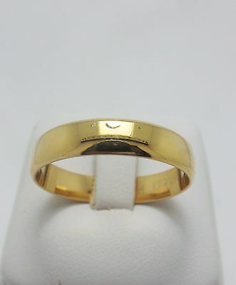GENTS 9ct YELLOW GOLD WEDDING BAND RING - RING SIZE W 1/2