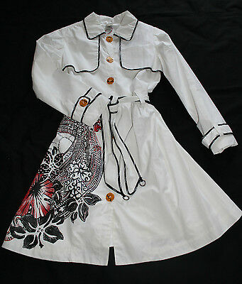 Stunning Save the Queen White, Black,Red Lightweight Coat - Age 10-12 Years BNWT