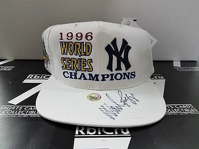 Wade Boggs SIGNED AUTOGRAPH 1996 WORLD SERIES CHAMPIONS HAT JSA COA NY Yankees