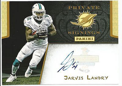 Jarvis Landry Panini PRIVATE SIGNINGS AUTO Autograph Postcard Miami Dolphins LSU