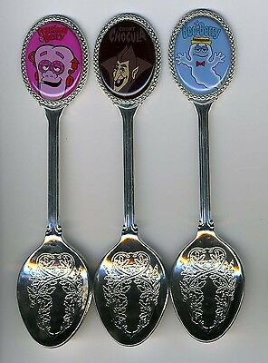 Frankenberry, Boo-Berry, Count Chocula 3 Silver Plated Spoons General Mills