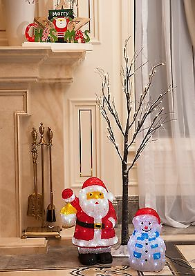 Lifa and Best 4FT 48L LED Snow Tree Warm White Christmas Decorative Light for...