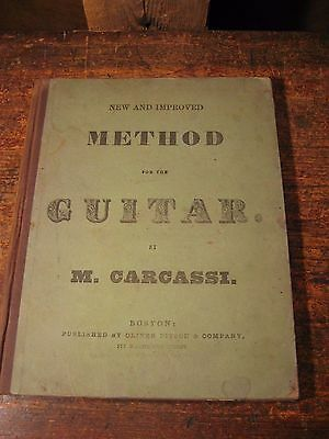 1853 First Edition- New And Improved Method For The Guitar By M. Carcassi