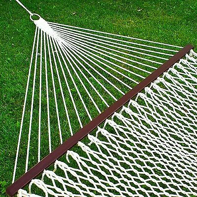 "Best Choice Products Hammock 59"" Cotton Double Wide Solid Wood Spreader Outdo..."