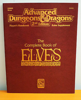 NEW AD&D The Complete Book of Elves