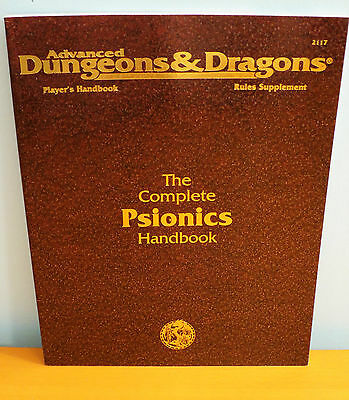 NEW AD&D The Complete Psionics Handbook