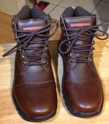 Weinbrenner Mens Brown Leather Outdoor Boots since 1894 Size 7
