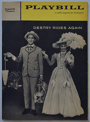 DESTRY RIDES AGAIN 1960 Original Broadway Playbill ANDY GRIFFITH & DELORES GRAY