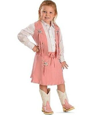 Pink ~ COWGIRL VEST & SKIRT ~ Faux Suede & Fringe - Rodeo Rider-Set or Separate