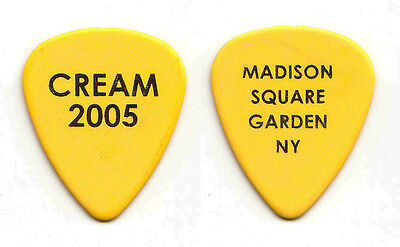 Cream Eric Clapton Yellow Guitar Pick - MSG NY 2005