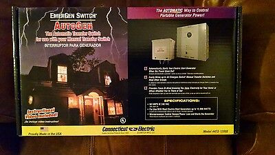 Connecticut Electric Emergen AutoGen ATS-12000 Automatic Transfer Switch, New