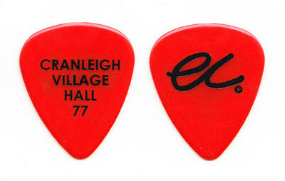 Eric Clapton Red Guitar Pick - Cranleigh Village Hall 77
