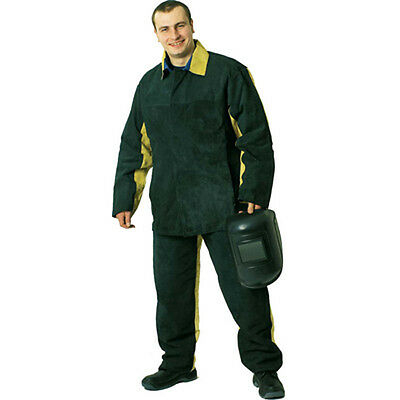 Combined Welder Spark Protection Suit with Split Leather (Jacket and Trousers)